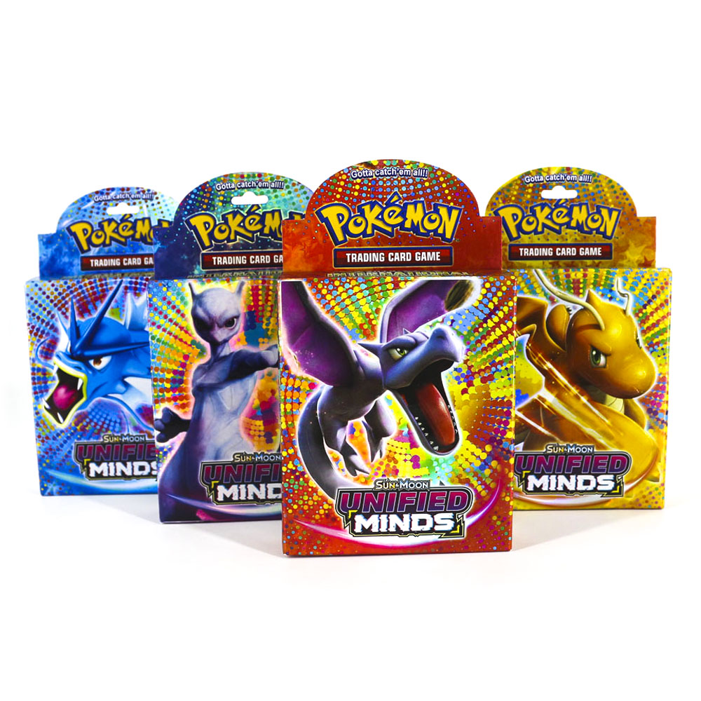 Takara Tomy Pokemon Trading Card Game SUN&MOON UNIFIED MINDS Flash Cards 48pcs Battle Toys Shining Box For Kids Gifts