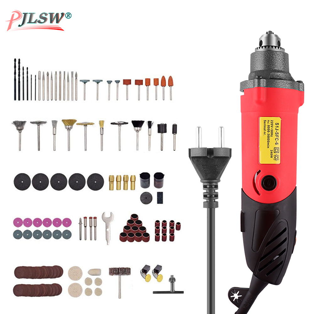 240W EU Mini Electric Drill 6 Position Variable Speed Dremel Rotary Tools Mini Die Grinder For Grind Ceramic Metal Power Tool