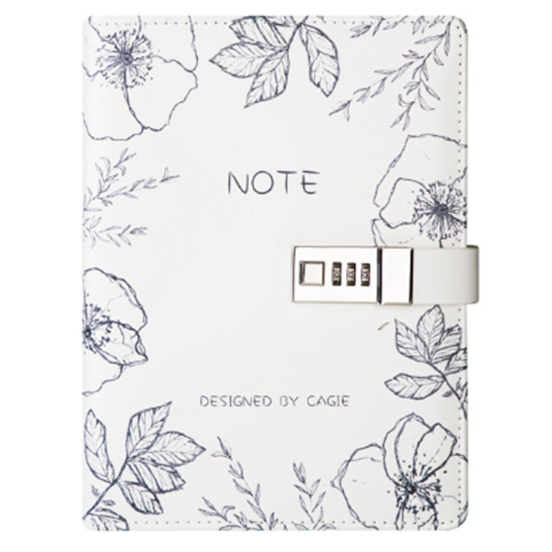 A5 Notepad Sub-Notebook Diary With Lock Hand Book Password Lock Notebook Travel Planner Journal Student Code Lock Note Books Off