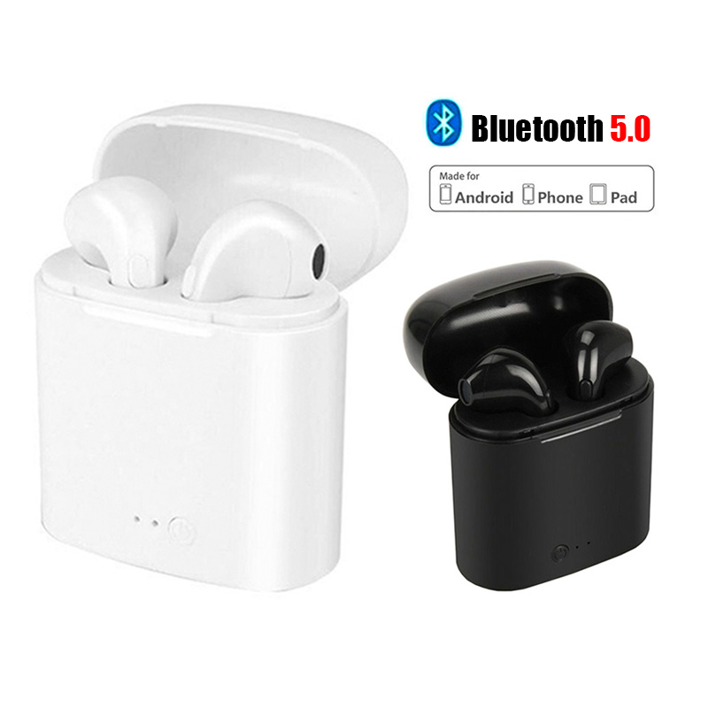 I7 Twins TWS Bluetooth Stereo Earphone Phone Headphone Wireless Earbuds For IPhone 8 7 Plus 6s 6 Plus 5s Galaxy S8 Android