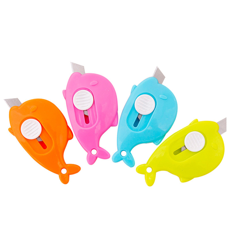 Cute Candy Color Portable Mini Utility Knifes Small Cutting Knife Paper Cutter Office Stationery School Supplies