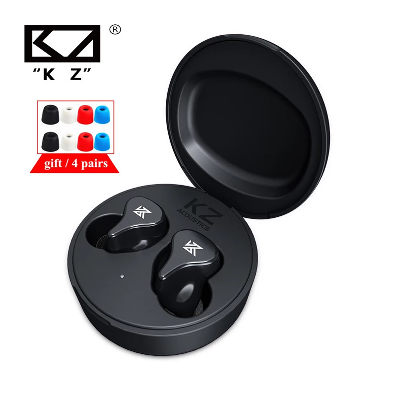 Плотным верхним ворсом KZ Z1 PRO Динамический драйвер наушники-вкладыши TWS Bluetooth 5,2 True Беспроводной в ухо наушник игра Шум шумоподавления наушни...