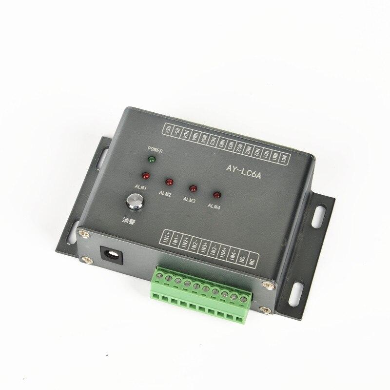 A-LC6A multichemin non-location capteur de fuite d'eau contrôleur d'inondation DC12V 4 canaux RS485 LED module d'alarme de fuite d'eau