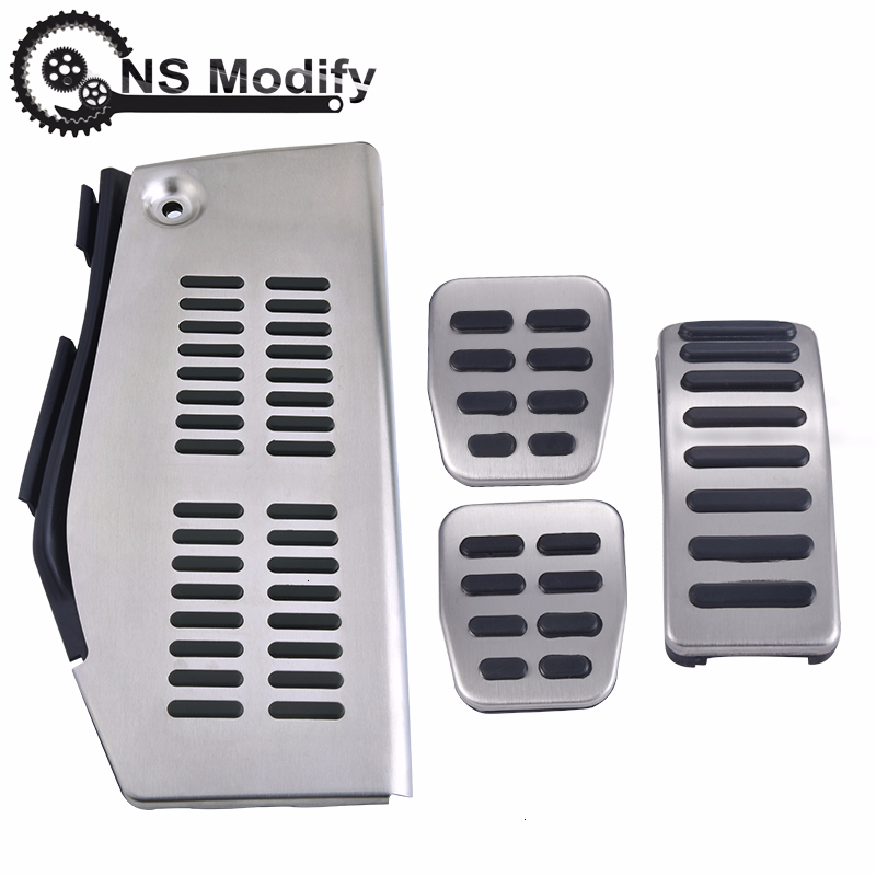 NS Modify LHD Pedal Stainless Steel Pad Foot Rest For VW Polo Golf 4 Bora Beetle RSi GTI R32 For Audi A3 SEAT Leon 1M Toledo 1L