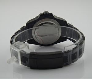 Image 5 - ספיר קריסטל 40mm parnis שחור חיוג אסיה אוטומטית עצמי רוח תנועה bezel GMT זוהר PVD מקרה גברים של שעון 167 8
