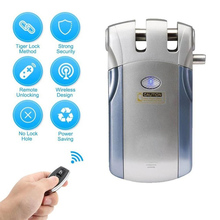 Energy Saving Easy Install Gate Door Lock Remote Control Small Fingerprint Password Home Use Safety Electric Wireless Smart APP