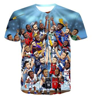 New 3D personalized fashion cartoon /character leisure sports all-around Street handsome cool mens harajukuT-shirt