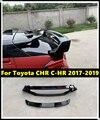 Задний спойлер для автомобиля  задний крыло  крышка для губ ABS  внешний задний спойлер для автомобиля Toyota C-HR 2017-2019