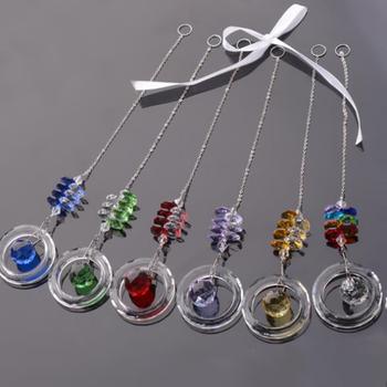 Czysty żyrandol kryształy zawieszki wiszący Ornament Suncatcher pryzmaty wystrój ogrodu akcesoria DIY wielokolorowe kryształy koraliki tanie i dobre opinie CN (pochodzenie) Crystals Pendants