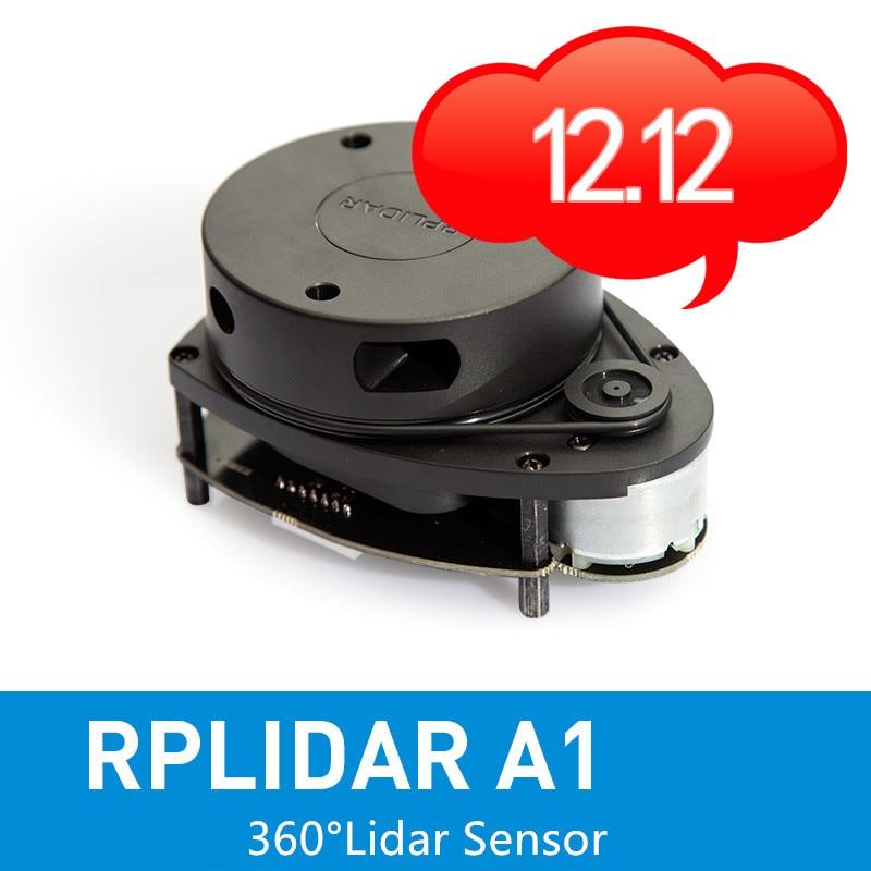 Slamtec RPLIDAR A1 2D 360 Degree 12 Meters Scanning  Radius Lidar Sensor Scanner For Obstacle Avoidance And Navigation Of Robots