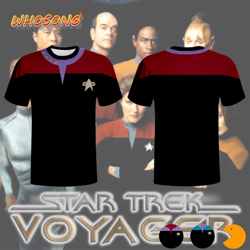 Star Trek Uniform 2020 Popular Cosplay Hot Sales T Shirt 3D Print Round Collar Polyester Men Tops Children Short Sleeve Tees