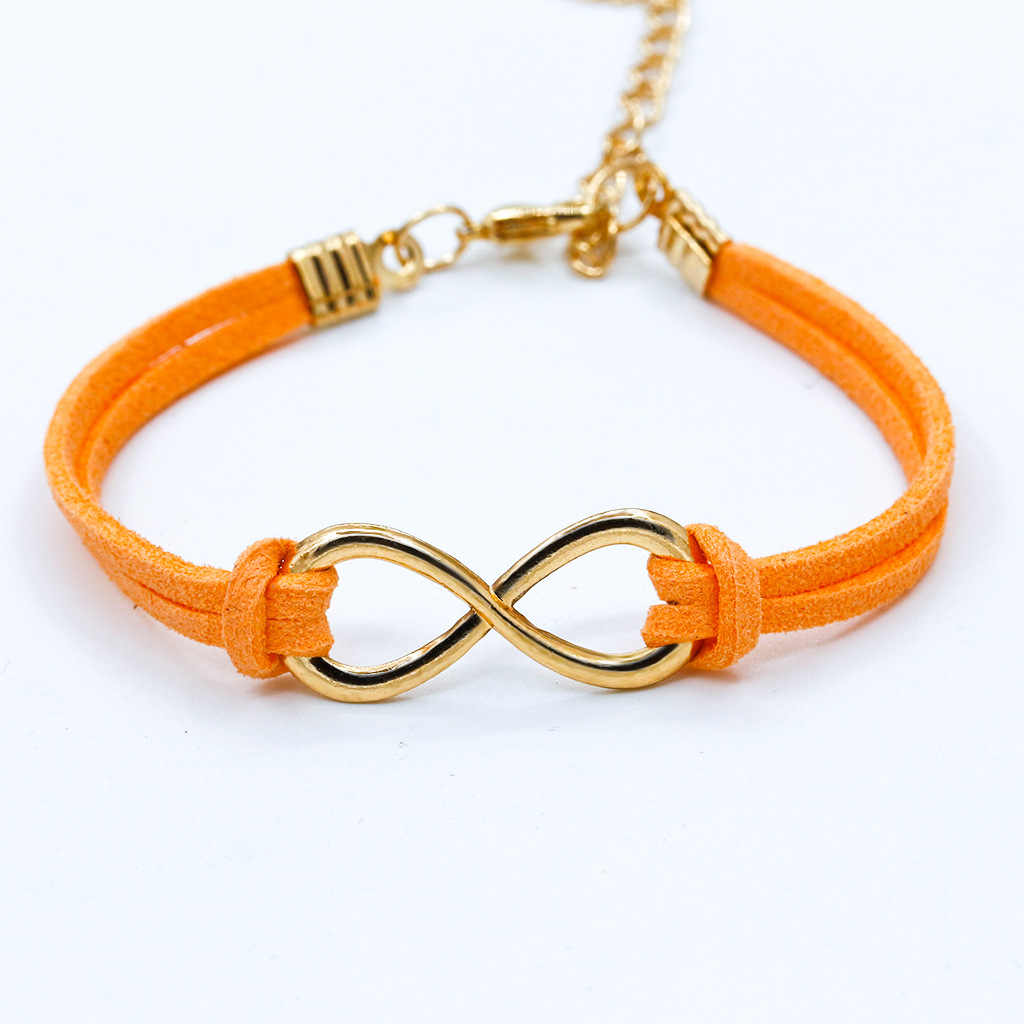 Hot Boho Punk Bijoux Fashion Vintage Infinity 8 Leather Bracelets for Women Gift Wholesale Bangles Men Jewelry Wholesale