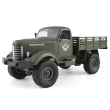 Rc caminhão militar jjrc q60 q61 6 movimentação da roda rc carro de escalada 1:16 2.4g loadable fora da estrada caminhão de controle remoto veículo militar