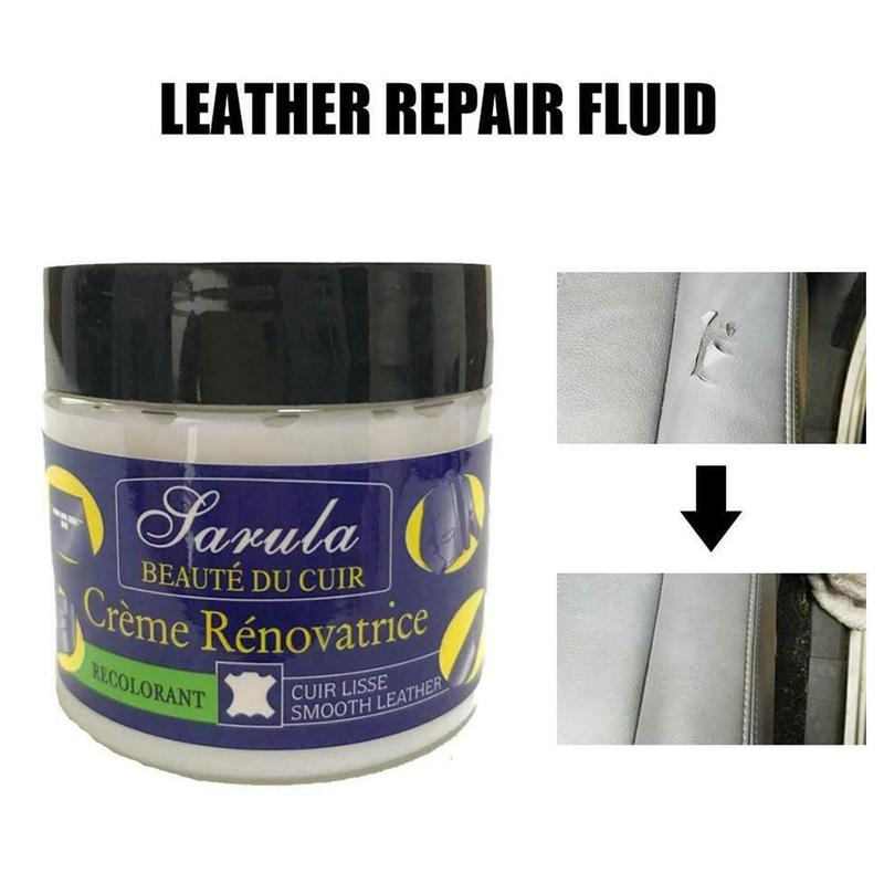Car Seat Leather Restoration Vinyl Repair Kit Auto Car Seat Sofa Leather Holes Scratch Cracks Rips Liquid Leather Repair Cream image