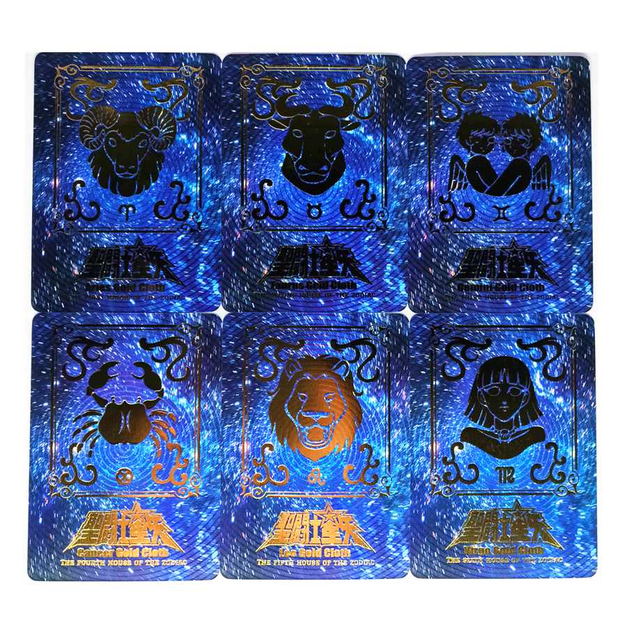 12pcs/set Saint Seiya The Signs Of The Zodiac Saint Cloth Box Starry Flash Toys Hobbies Collectibles Game Collection Anime Cards