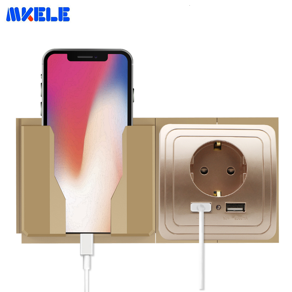 Wall Cellphone Holder Stand Socket Paste Charge Support Rack Shelf Durable  Socket Phone Mount Holder Home Charging Storage Box