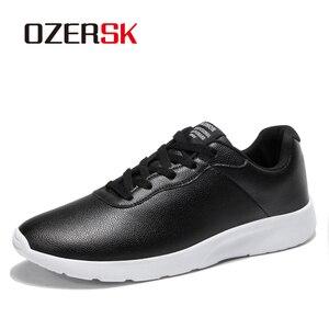 Image 2 - OZERSK 브랜드 2021 가을 큰 크기 35 47 Pu 가죽 남성 신발 캐주얼 클래식 스 니 커 즈 남성 Unisex 편안한 신발