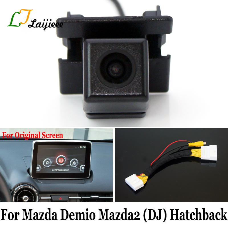 For Mazda Demio 2 Mazda2 DJ 5-Door Hatchback / 28 Pin Reverse Camera Interface For Original Screen Compatible Rear View Camera