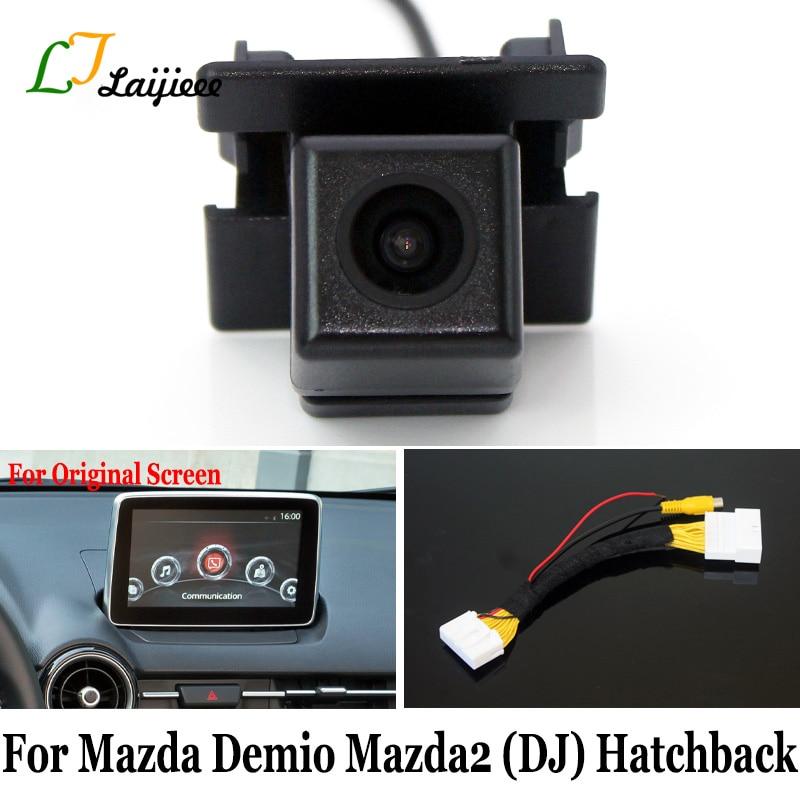 Для Mazda Demio 2 Mazda2 DJ 5-дверный хэтчбек/28-контактный обратный Интерфейс камеры для оригинального экрана совместимая камера заднего вида