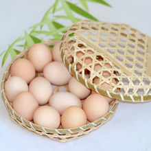 Hand-woven bamboo basket storage egg fruit kitchen good helper shatter-resistant handmade organizer