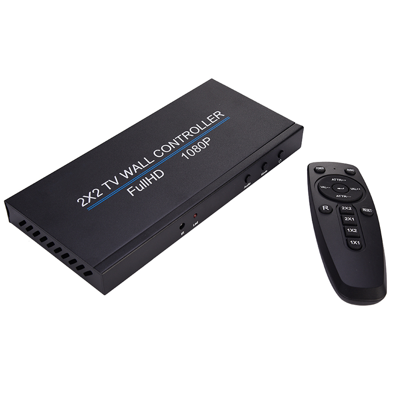 Video Wall Controller HDMI Processor USB Matrix Switch 2x2 Processor HD Image Stitching Controller With IR Remote Control AC Ada