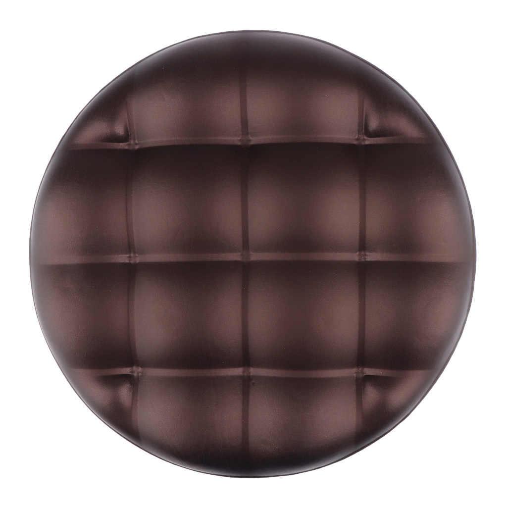 Weich Barhocker Covers Runde Stuhl Sitzbezug Kissen Sleeve, Wasserdichte Barhocker Abdeckung Pu leder Runde Stuhl Sitzkissen
