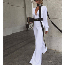 Summer Jumpsuit Formal Elegant Long Pants Trendy White Overalls For Women Lady C