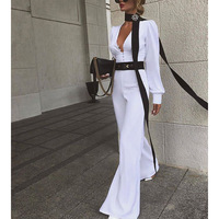 Summer Jumpsuit Formal Elegant Long Pants Trendy White Overalls For Women Lady Clothing Plus Size Jumpsuits And Rompers Outfit