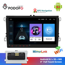 Podofo Android 9 Inch Car Radio Wifi GPS Navigation Mirror Link Autoradio For VW Polo Sedan Golf 4 Passat B6 Multimedia Player(Hong Kong,China)