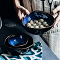 Блюдо OIMG, миска, европейская фарфоровая глубокая миска, необычная керамическая миска, креативная посуда, миска неправильной формы, набор по...