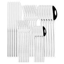 6 30 sztuk lustro srebrne sztućce zestaw noży widelec łyżka naczynia zastawa stołowa sztućce ze stali nierdzewnej zestaw sztućców kuchnia tanie tanio uniturcky CN (pochodzenie) Zachodnia Metal STAINLESS STEEL Pigmentowane Stałe CE UE Lfgb Ekologiczne Łyżka widelec zestaw noży