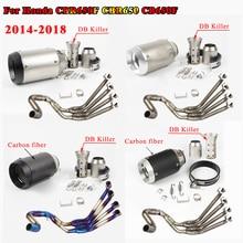 CBR650 avant rangée côté Tntact en acier inoxydable moto complet systèmes déchappement tuyau CBR 650 pour Honda CB650F CBR650F 2014  2018 17