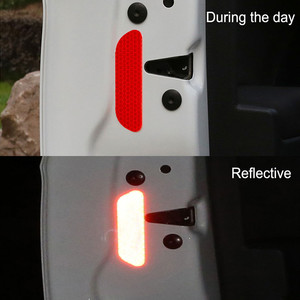 Image 3 - car reflective stickers decal warning stickers eyebrow safety mark reflective strips for edge wheel 4 parts/set