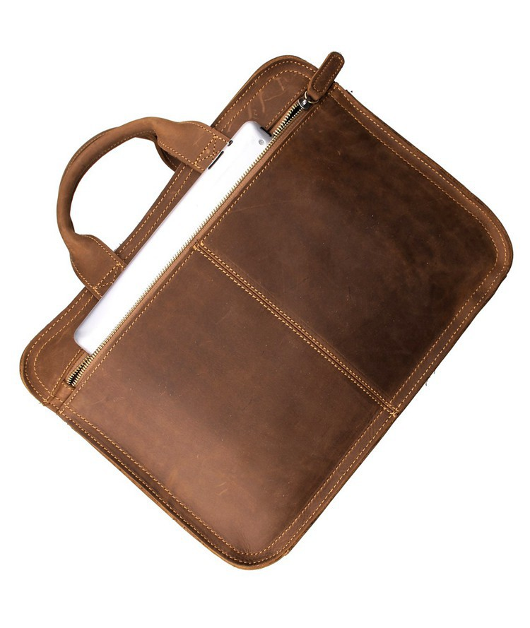 Hd011e4819e1e4a4e99fbc0c09c925436v MAHEU Vintage Leather Mens Briefcase With Pockets Cowhide Bag On Business Suitcase Crazy Horse Leather Laptop Bags 2019 Design