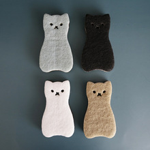 Dishwashing Sponge Dish-Scrubber Kitchen Cleaning-Tool Water-Absorption Strong Cute 4PCS