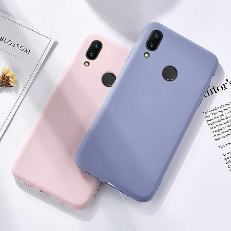 Cho Redmi Note 7 Case ZROTEVE Mềm Da Touch Cover Liquid Silicone Trường Hợp Cho Xiaomi Redmi Note7 Note 7 Pro ốp Lưng điện thoại Nắp