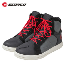 waterproof and breathable Commute motorcycle boots  scoyco knight protective motocross motorbike shoes size 39-40-41-42-43-44-45