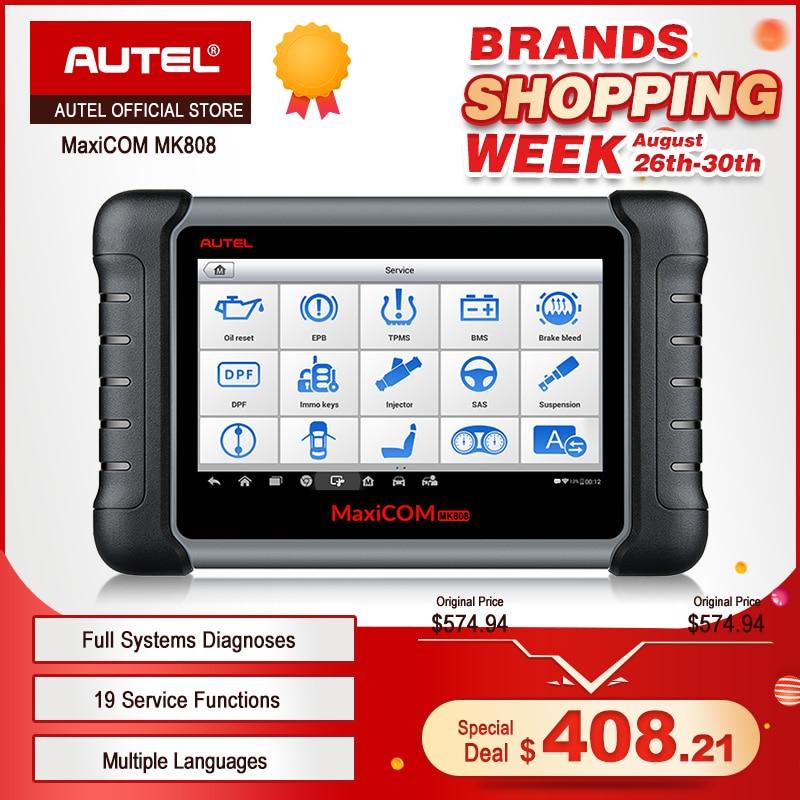 MaxiCOM MK808 OBD2 Scanner Profissional Autel Leitor de Código de Auto Car Diagnostic Scan Tool OBD 2 ODB2 Codificação Chave MX808 MD802 DS808