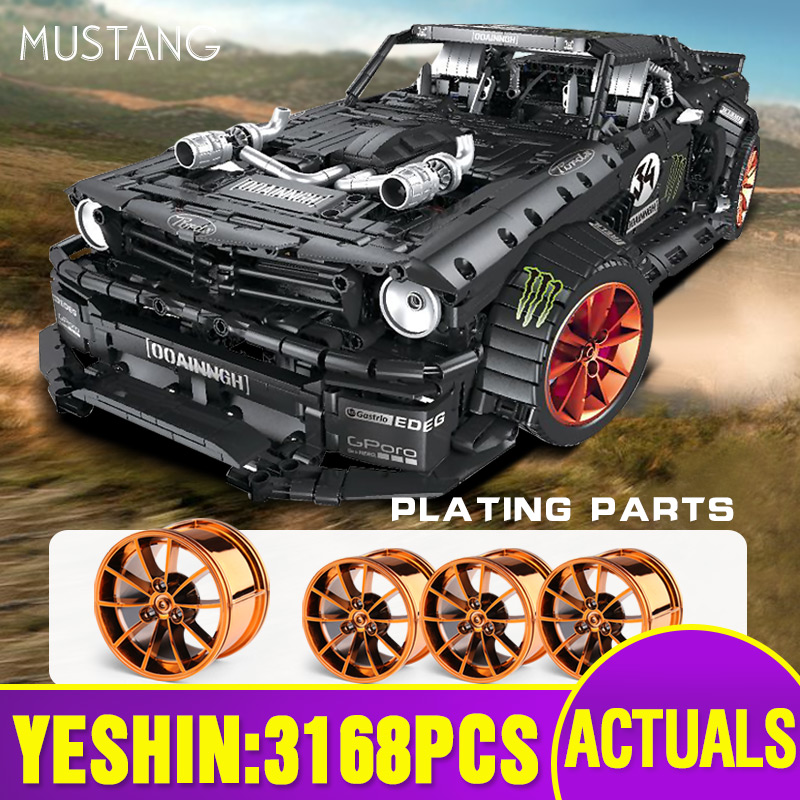 Yeshin 20102 Technic Cars Toys The MOC-22970 Mustang Hoonicorn V2 Assembly Car Model Kids Christmas Toys Building Blocks Bricks