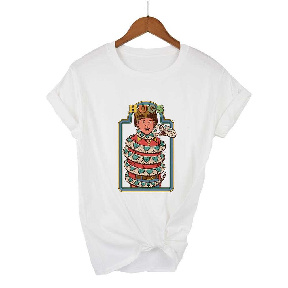 Casual T-shirt Streetwear Pop Kawaii Billige T-shirt Runde Kragen Schwarz Humor Vintage Frühling Sommer Harajuku Hipster T hemd