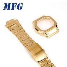Pulseira e moldura dw5600 GW M5610 pulseira de metal moldura de aço inoxidável cinto ferramentas caso quadro
