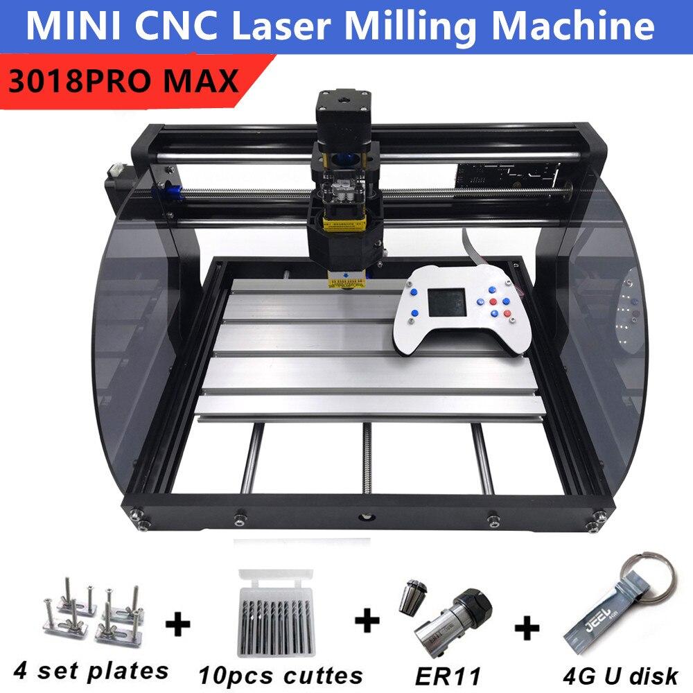 DIY CNC 3018 Pro MAX GRBL, 3 оси PCB фрезерный станок, CNC маршрутизатор лазерная гравировка CNC3018PRO max фрезерный станок