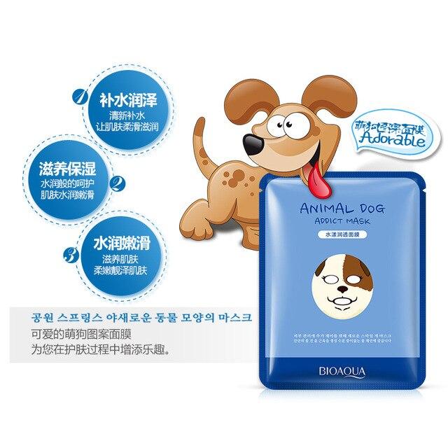 20PCS Tiger Panda Sheep Dog Face Mask Deep Moisturizing Sheet Mask Oil Control Hydrating Cute Animal Face Masks Korean Mask 2