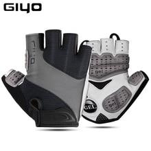 Giyo 2020 Atmungsaktive Lycra Stoff Unisex Radfahren Handschuhe Rennrad Reiten MTB DH Racing Outdoor Handschuhe Fahrrad Half Finger Handschuh