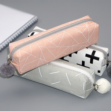 Cute Solid Color Pencil Case Back to School Pencilcase Pen Bag For Girls Kids Storage Bag Gift Kawaii Stationery Student  Supply fresh cactus love silicone pen bag pencil case school office supply storage stationery kids gift