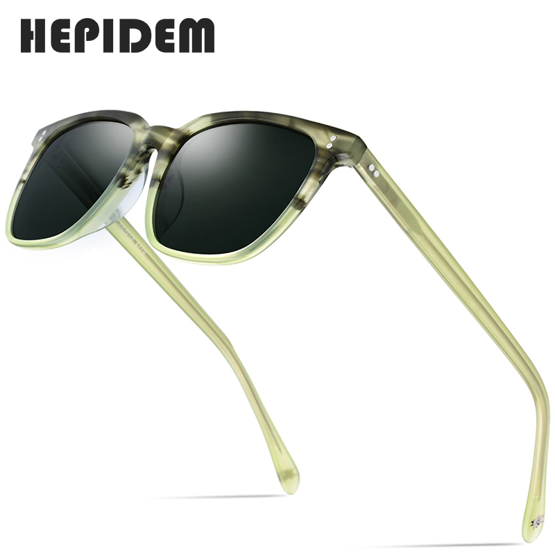 Acetate Polarized Sunglasses Men 2020 New High Quality Vintage Square Sun Glasses for Women Men's Korea Goggles Sunglass 9114 image