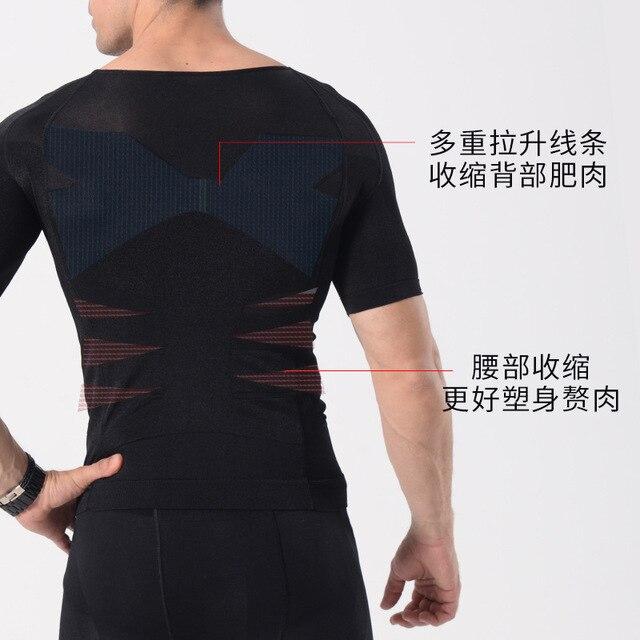 MenSlimming Boobs  Gynecomastia Vest Body Shaper Control Belly Tummy Trimmer T-shirt Sleeveless Back Support Underwear Shapewear 2