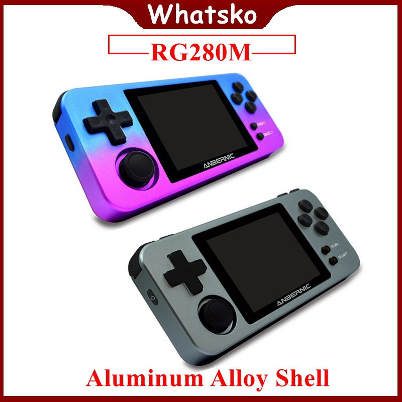 ANBERNIC RG350M Mini Retro Game Console Metal Shell Handheld Gaming Player RG280M 64 Bit PS1 Emulator Video Game Consola rg280
