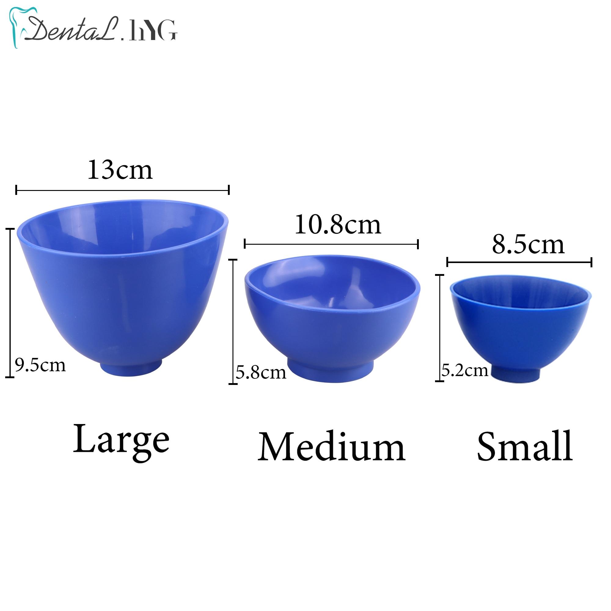 3pcs/set Dental Lab Mixing Bowl Large/Medium/Small High Elasticity Nonstick Impression Alginate Flexible Rubber Oral Tools