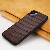 Echtes Leder Fällen für Apple iphone 11 X XR XS XS max 11 Pro Max Stein Korn 360 Volle Abdeckung für iphone 6 5s 6S 7 plus 8 plus